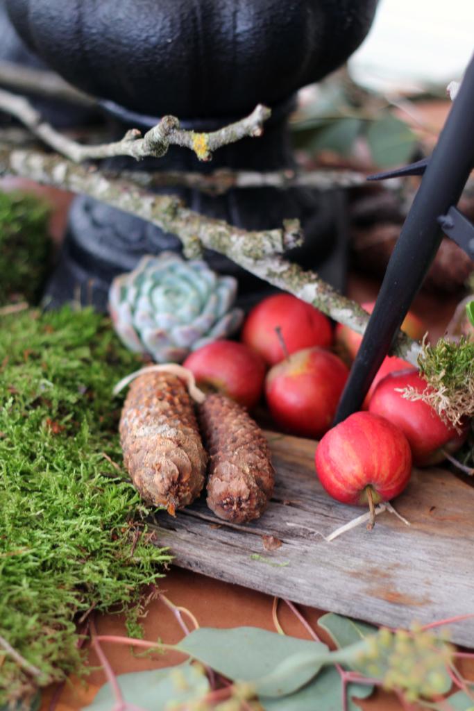 Jul och röda äpplen