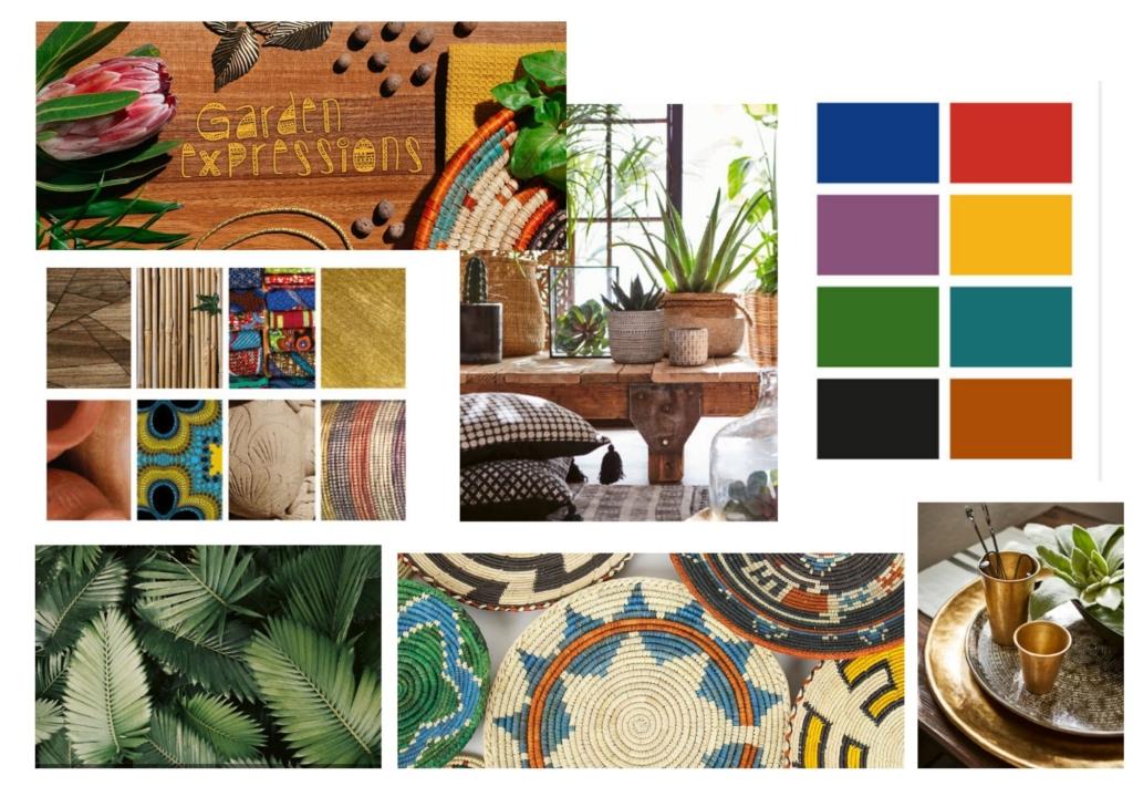 Bilder Elmia Garden trends, collage Hanna Schagerlöv