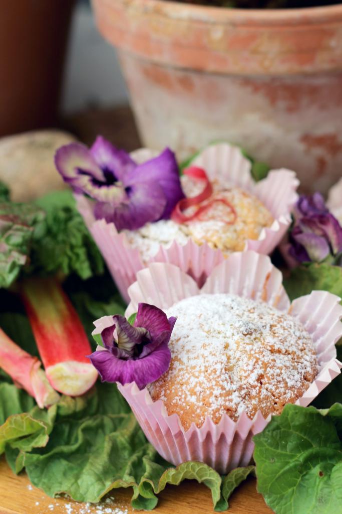 rabarbermuffins recept